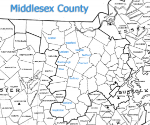 Middlesex County Map