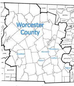 Worcester County Map