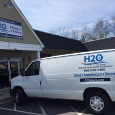 Whole house water filtration system service van in Woburn