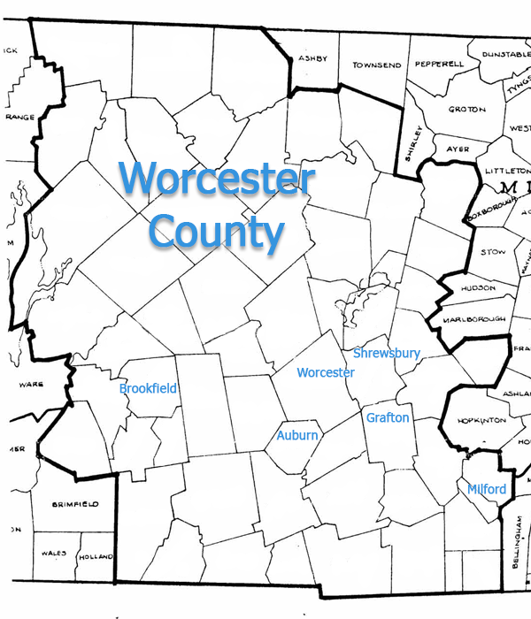 Worcester County Map Worcester County Common Water Quality Issues   H2O Care Worcester County Map
