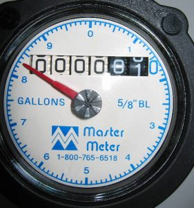 Water meter for arsenic in well water monitoring