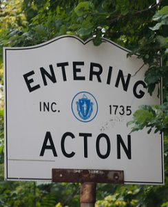 Arsenic in water in Acton, MA